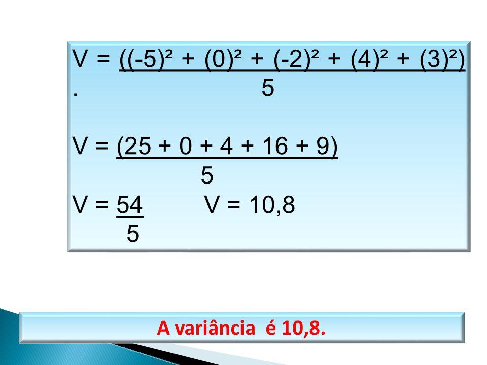 V = ((-5)² + (0)² + (-2)² + (4)² + (3)²) . 5