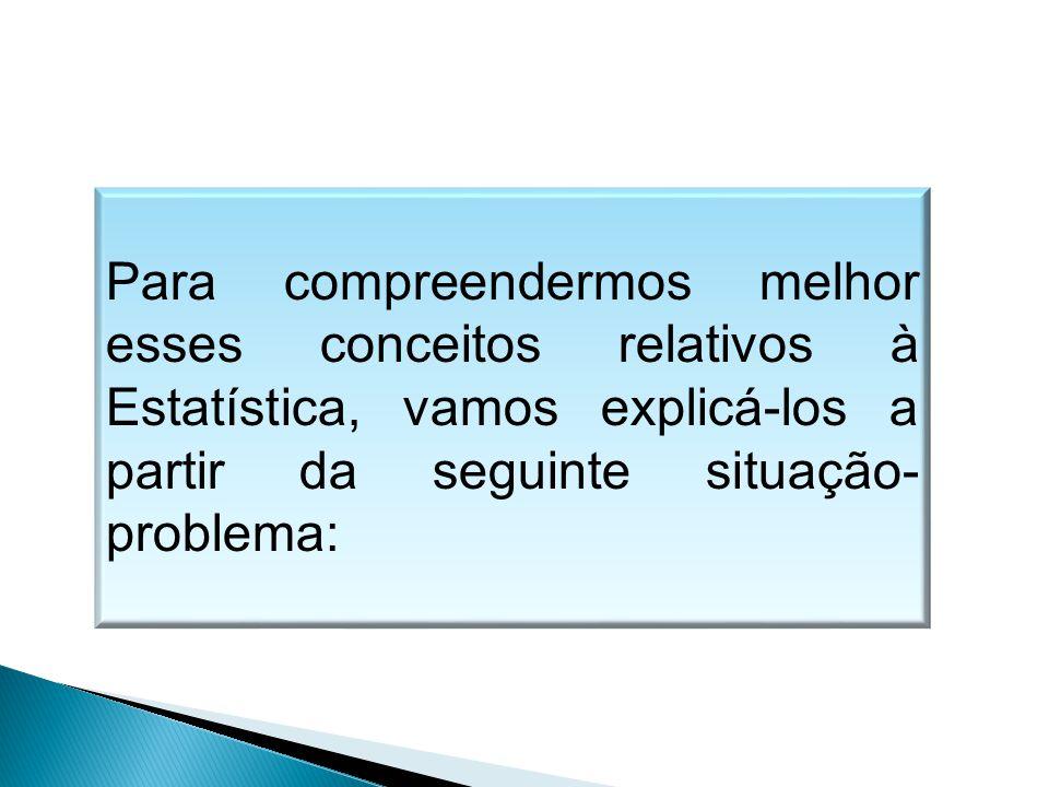 MATEMÁTICA, 1º Ano Medidas de dispersão: desvio médio, desvio padrão e variância.