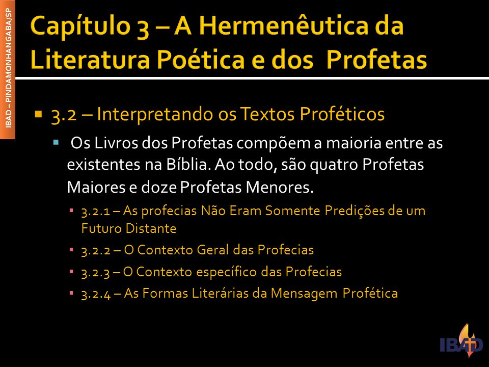 Capítulo 3 – A Hermenêutica da Literatura Poética e dos Profetas