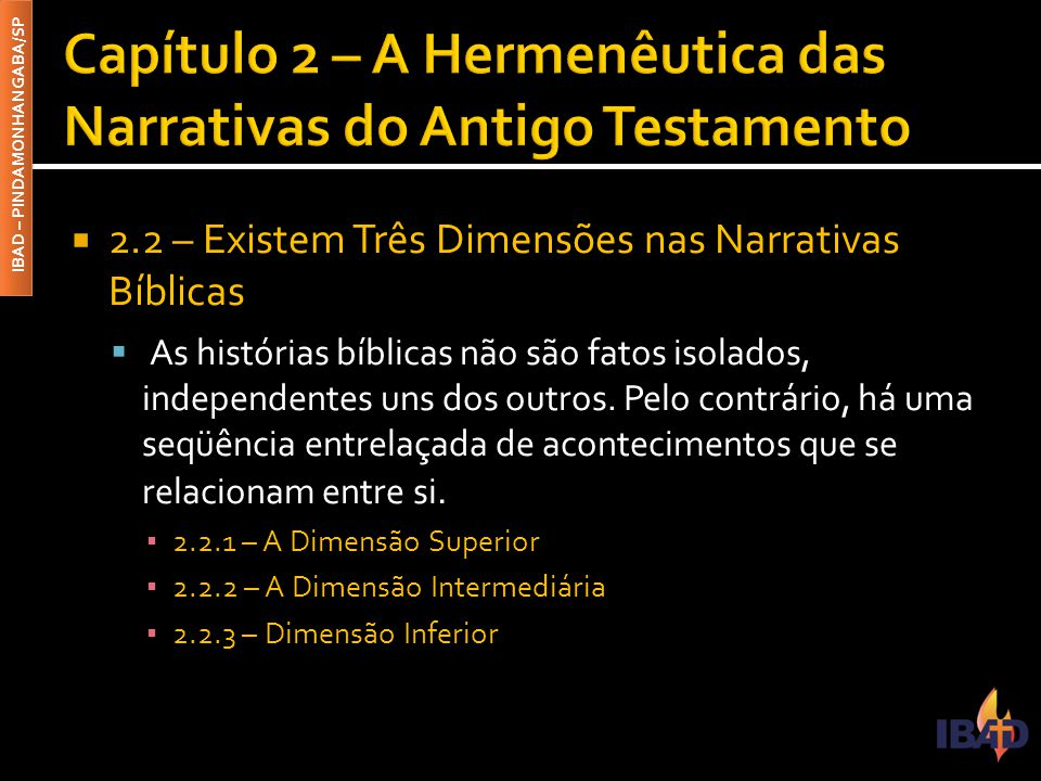 Capítulo 2 – A Hermenêutica das Narrativas do Antigo Testamento