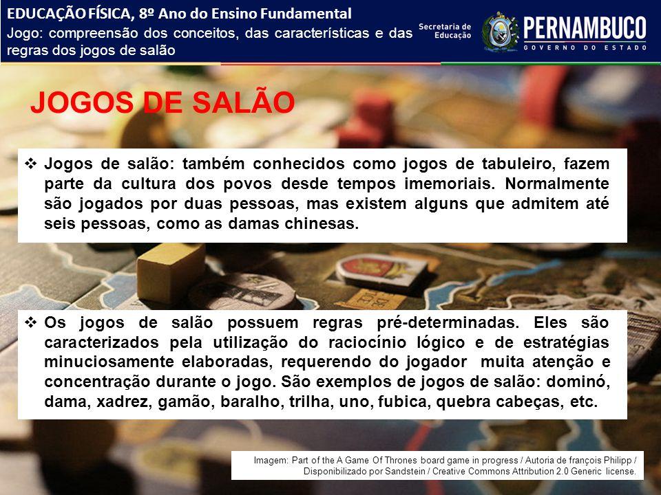 JOGOS DE SALÃO EDUCAÇÃO FÍSICA, 8º Ano do Ensino Fundamental