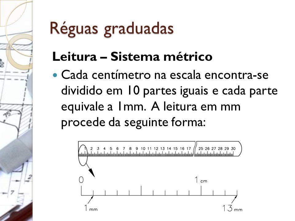 Réguas graduadas Leitura – Sistema métrico