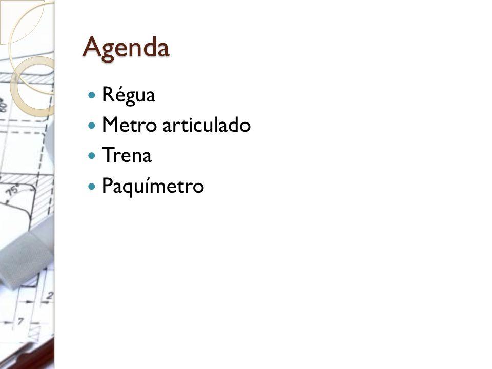 Agenda Régua Metro articulado Trena Paquímetro
