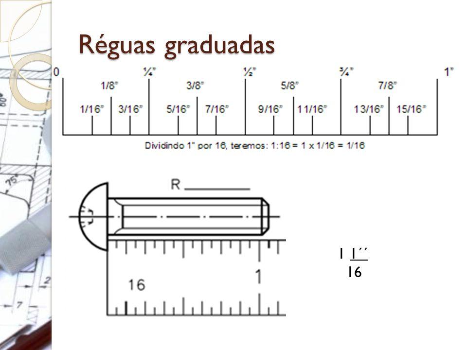 Réguas graduadas 1 1´´ 16