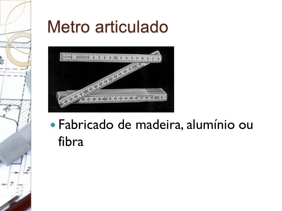 Metro articulado Fabricado de madeira, alumínio ou fibra