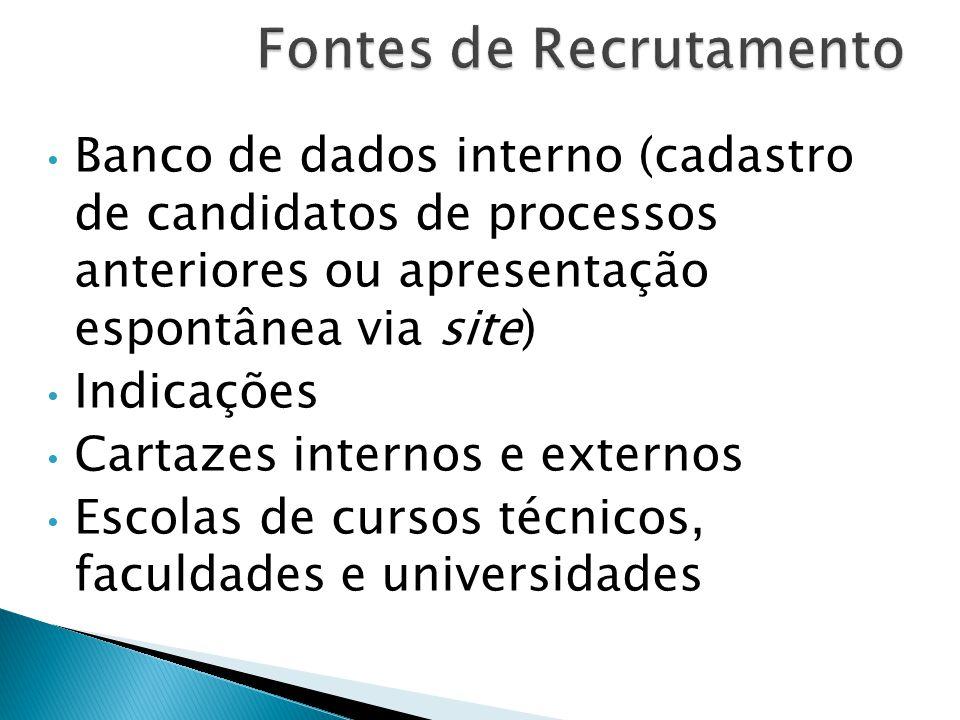 Fontes de Recrutamento