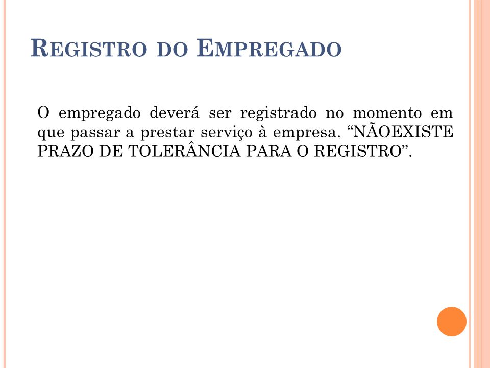 Registro do Empregado