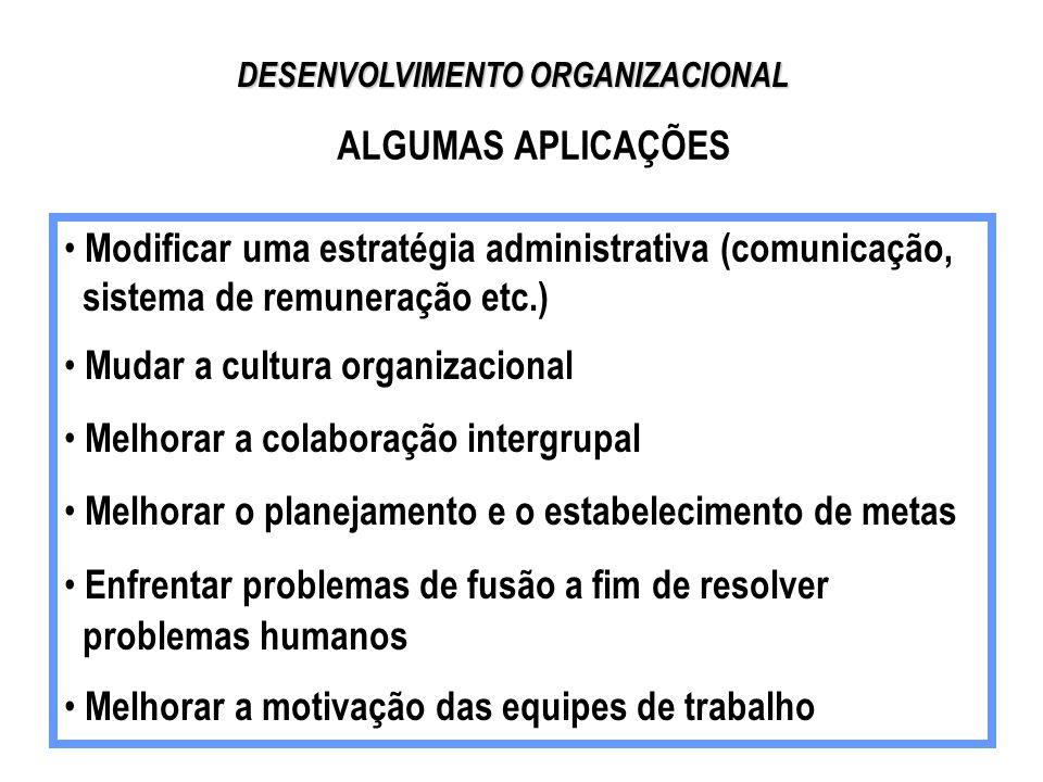 Curso de desenvolvimento organizacional