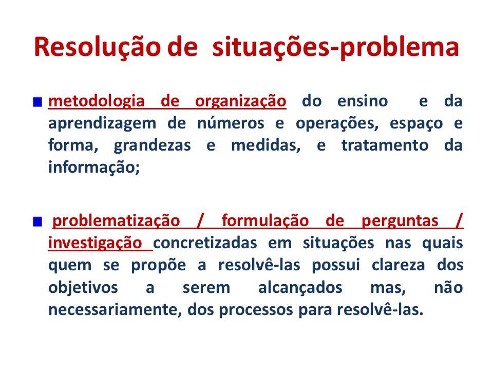 Resolução de situação problema matematica