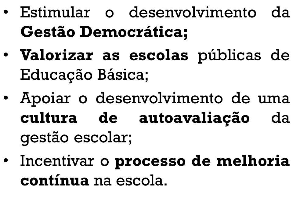 Estimular o desenvolvimento da Gestão Democrática;