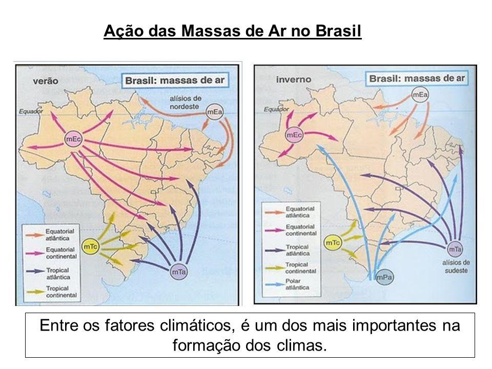 Ação das Massas de Ar no Brasil