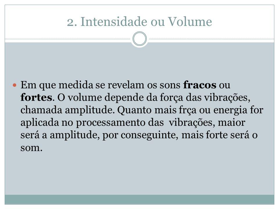 2. Intensidade ou Volume