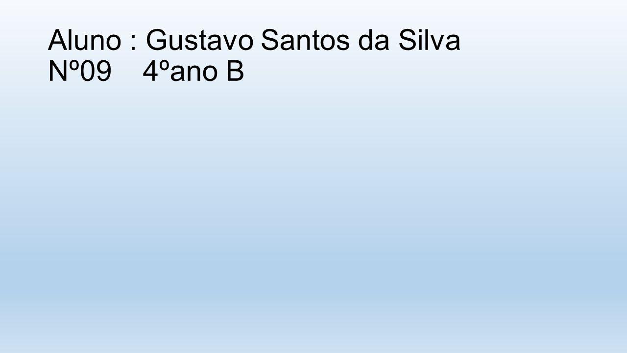 Aluno : Gustavo Santos da Silva Nº09 4ºano B