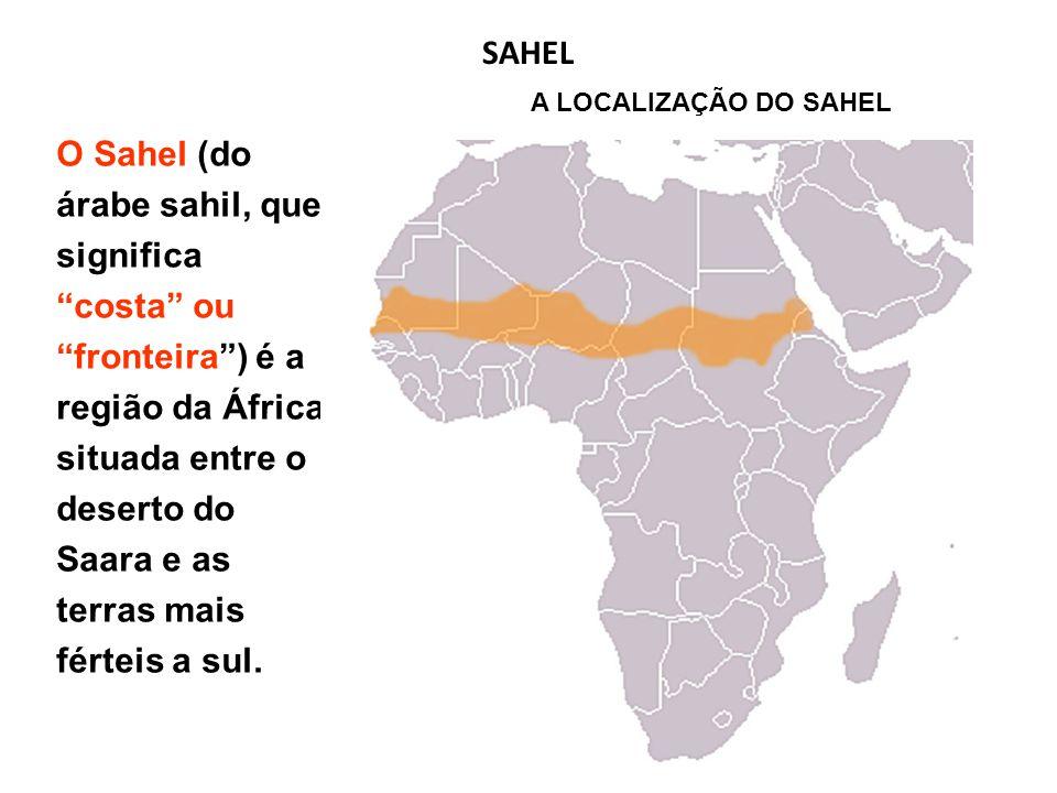 SAHEL A LOCALIZAÇÃO DO SAHEL.