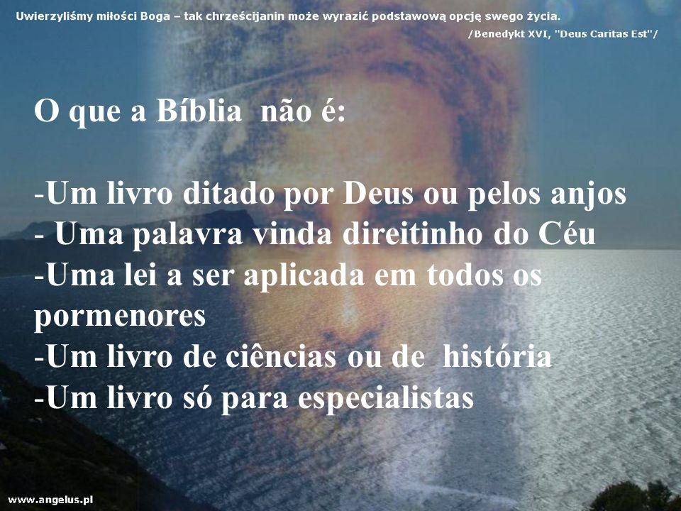 O que a Bíblia não é: Um livro ditado por Deus ou pelos anjos. Uma palavra vinda direitinho do Céu.