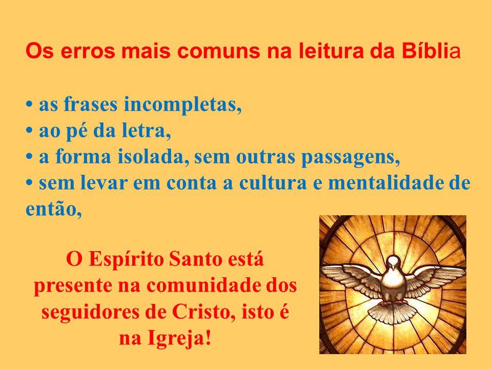 Os erros mais comuns na leitura da Bíblia