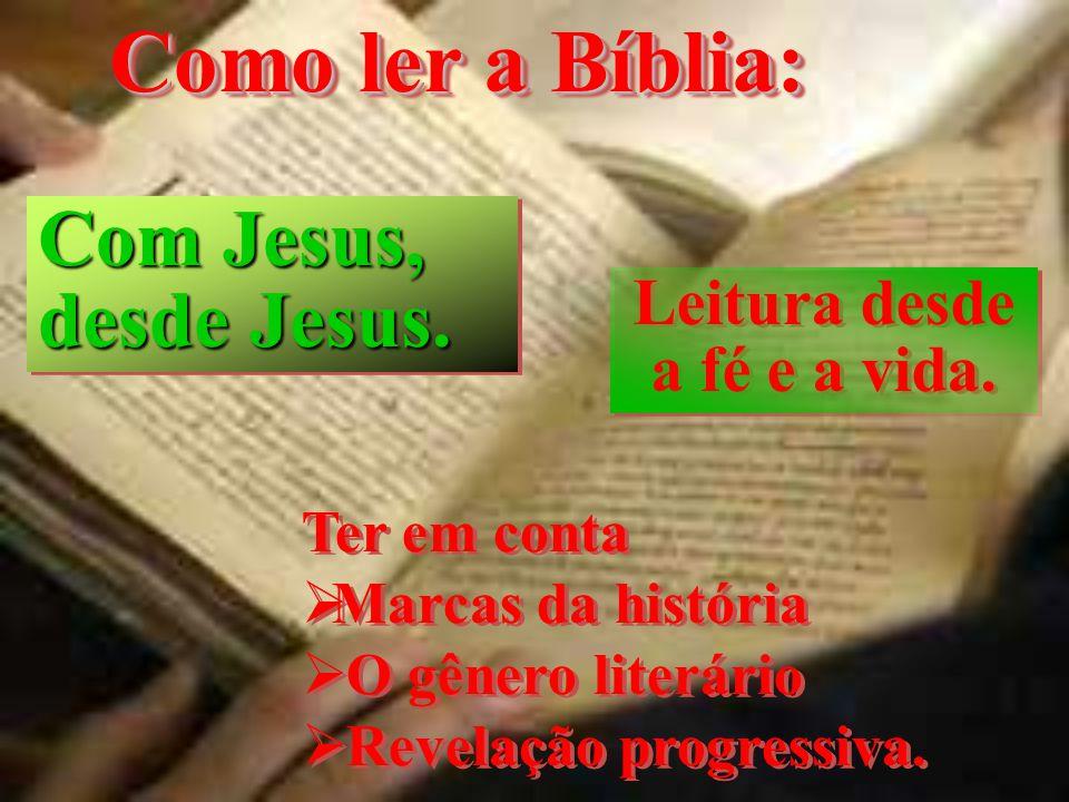 Leitura desde a fé e a vida.