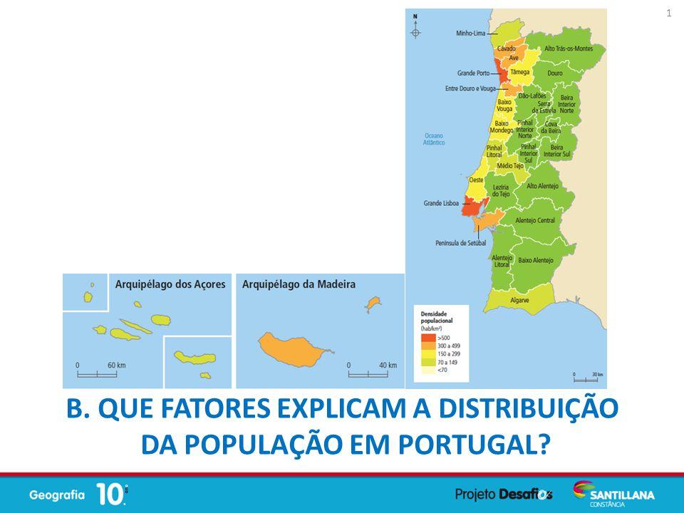 B. Que fatores explicam a distribuição da população em Portugal