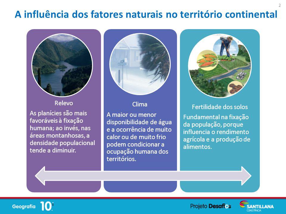 A influência dos fatores naturais no território continental