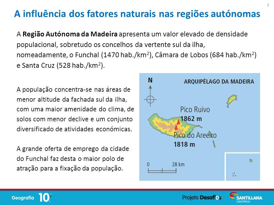 A influência dos fatores naturais nas regiões autónomas