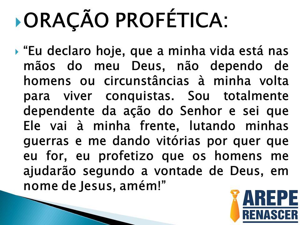 ORAÇÃO PROFÉTICA: