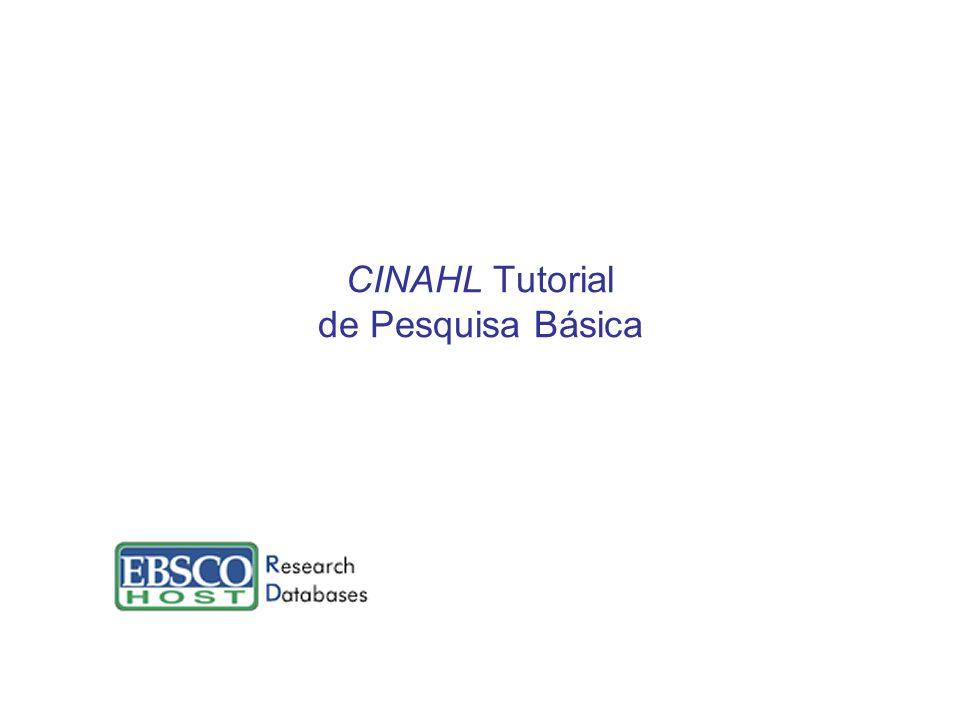CINAHL Tutorial de Pesquisa Básica