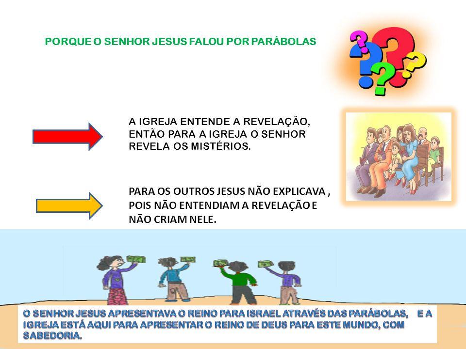 PORQUE O SENHOR JESUS FALOU POR PARÁBOLAS