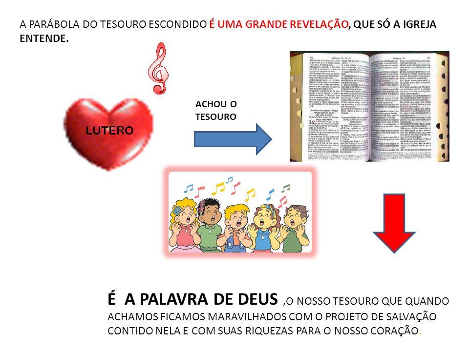 A PARÁBOLA DO TESOURO ESCONDIDO É UMA GRANDE REVELAÇÃO, QUE SÓ A IGREJA ENTENDE.