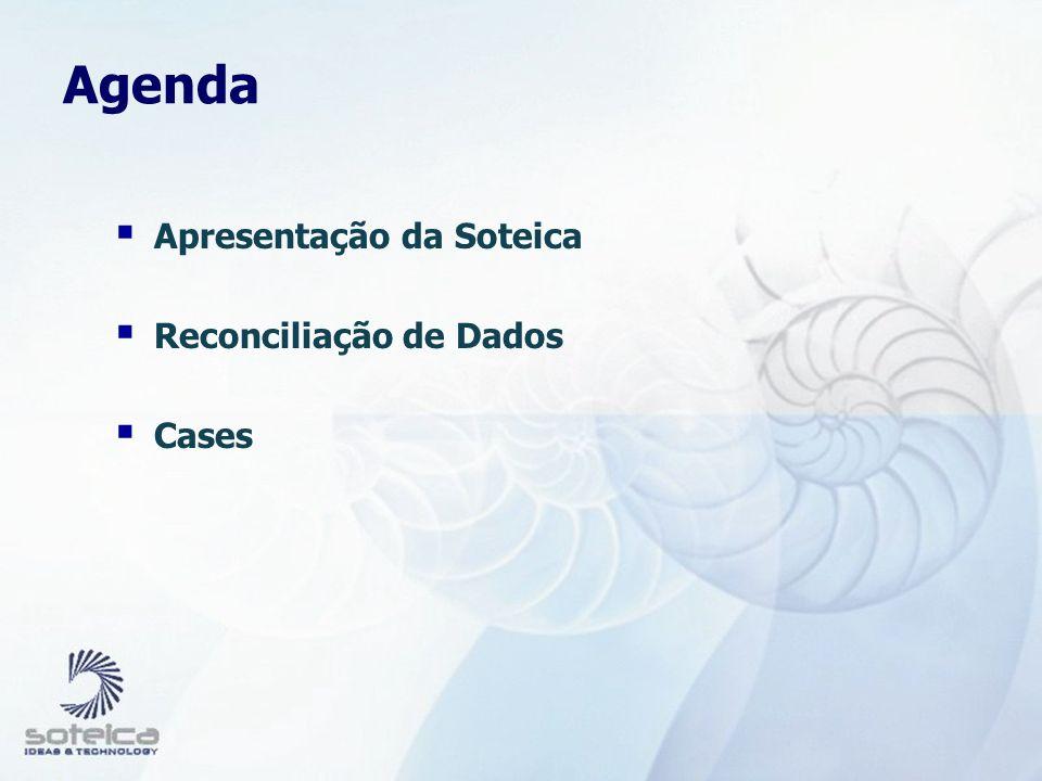 Agenda Apresentação da Soteica Reconciliação de Dados Cases