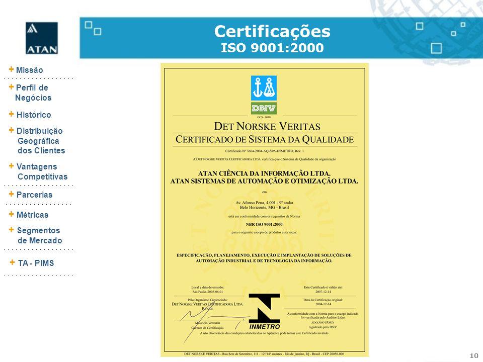 Certificações ISO 9001:2000 9290-103-25 (Rev.:003)