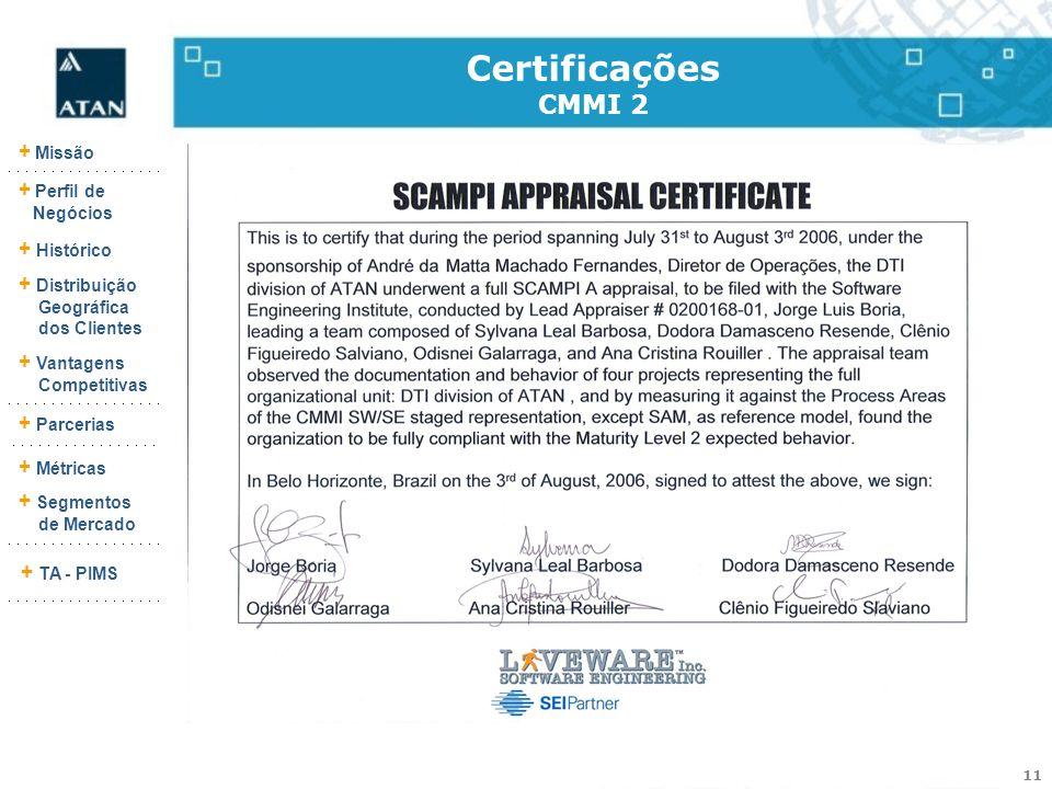 Certificações CMMI 2 9290-103-25 (Rev.:003)