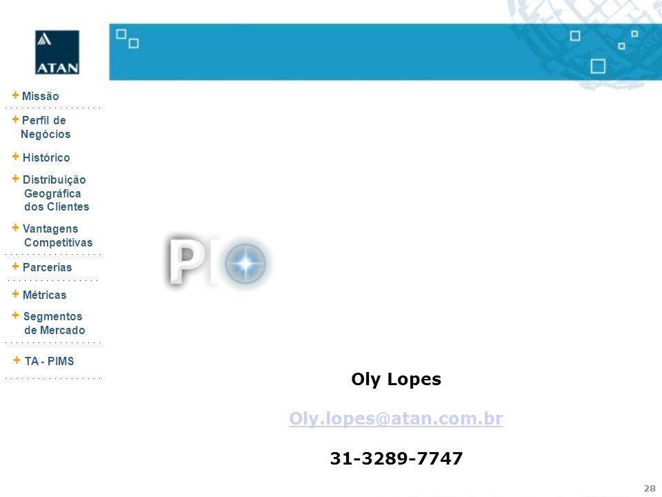 Oly Lopes Oly.lopes@atan.com.br 31-3289-7747