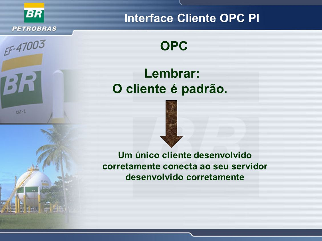 Interface Cliente OPC PI