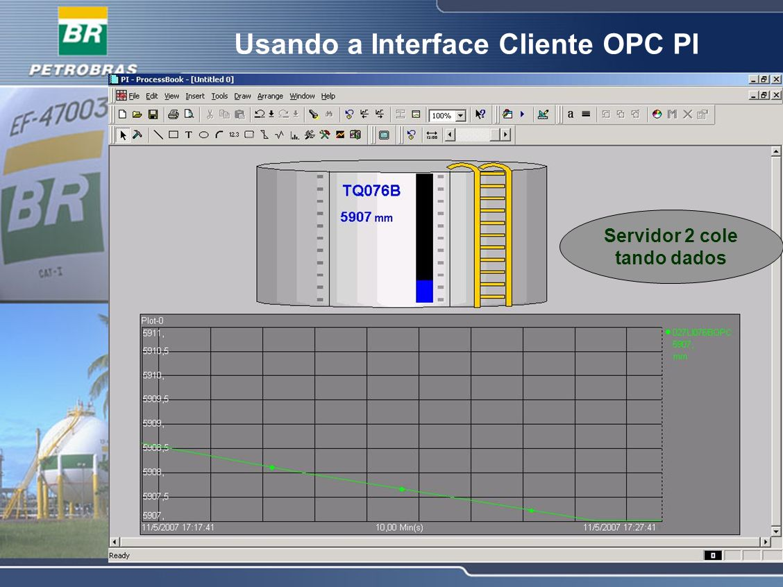 Usando a Interface Cliente OPC PI