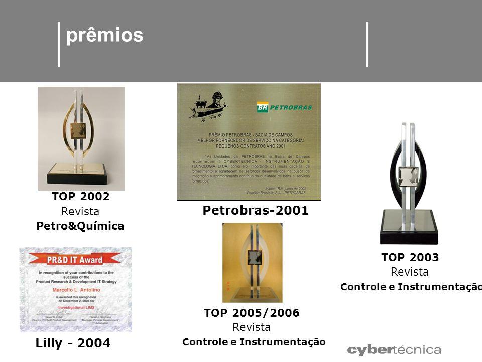 prêmios TOP 2002 Revista Petrobras-2001 Controle e Instrumentação