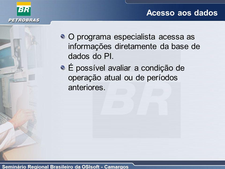 Acesso aos dados O programa especialista acessa as informações diretamente da base de dados do PI.