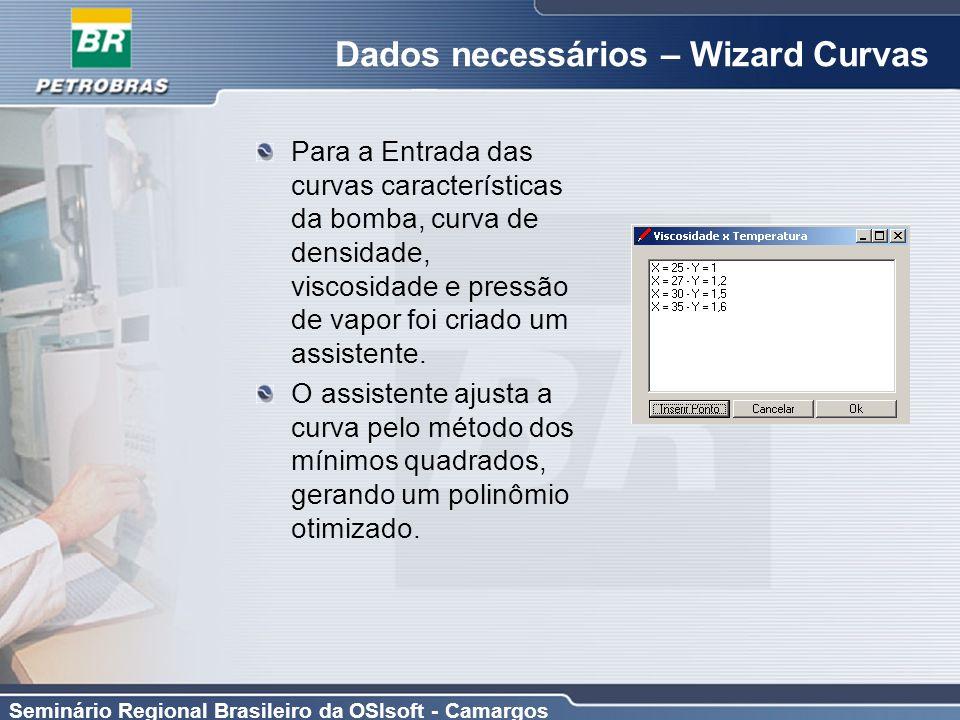 Dados necessários – Wizard Curvas
