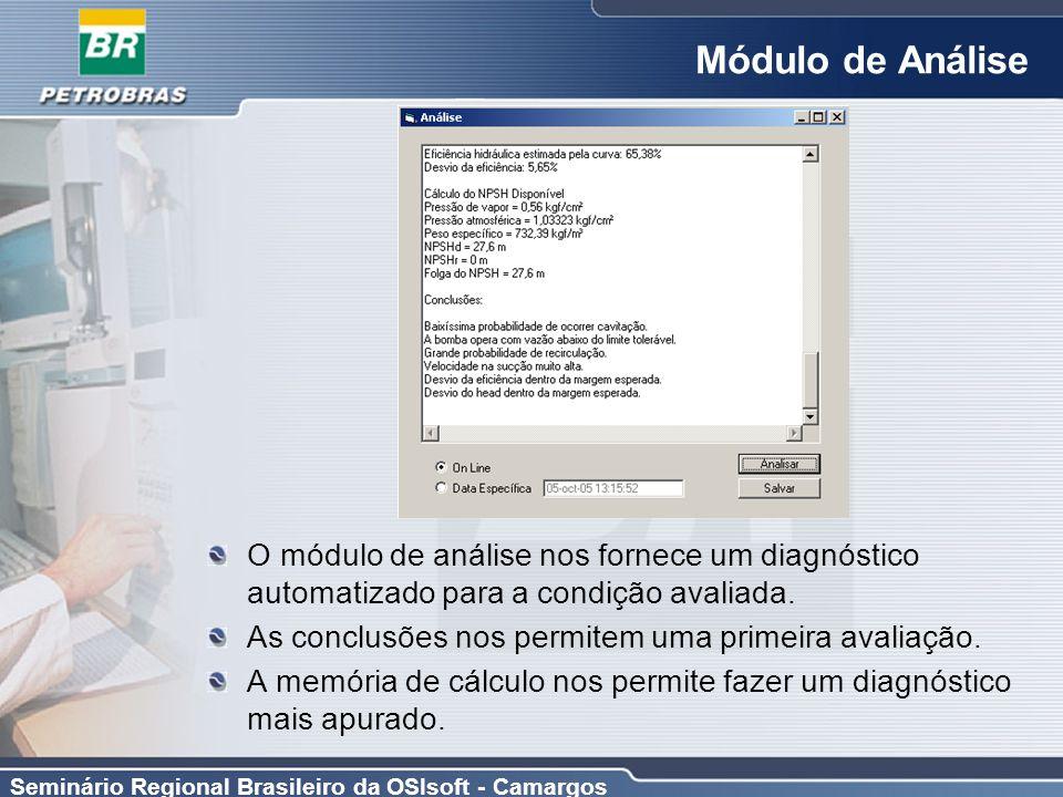 Módulo de Análise O módulo de análise nos fornece um diagnóstico automatizado para a condição avaliada.