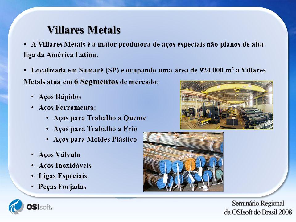 Villares Metals A Villares Metals é a maior produtora de aços especiais não planos de alta-liga da América Latina.