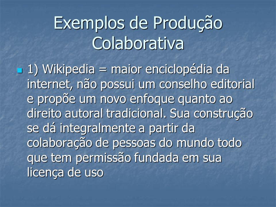 Exemplos de Produção Colaborativa