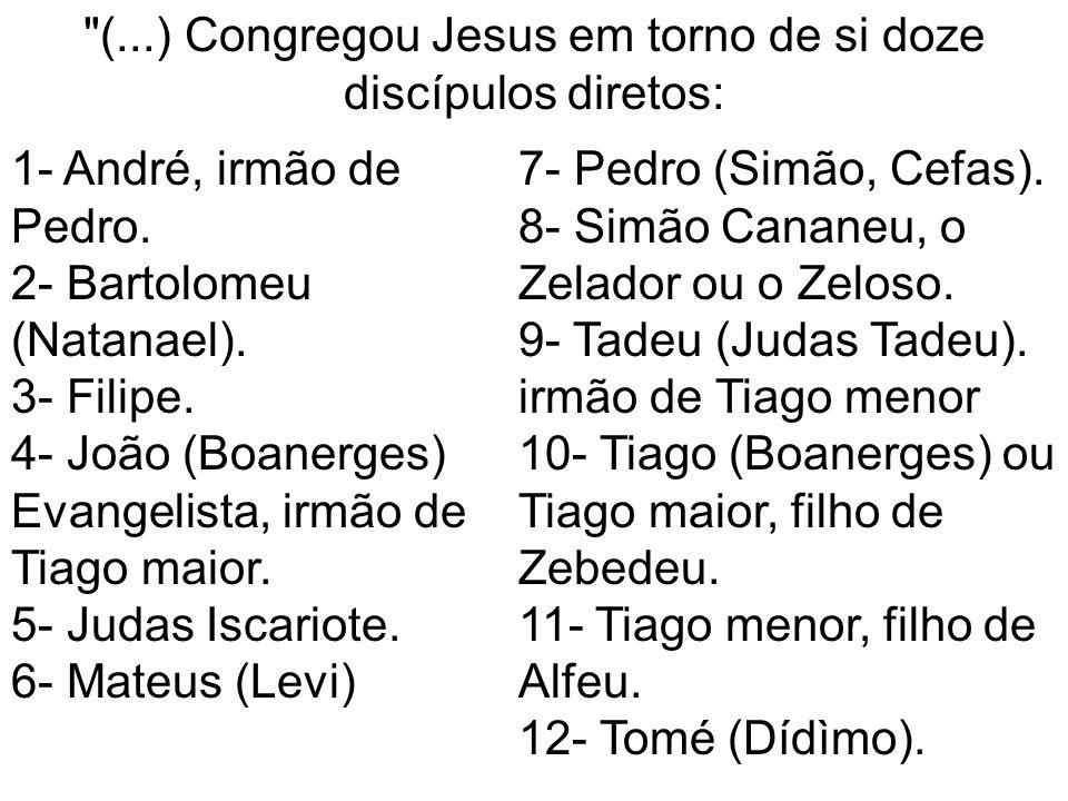 (...) Congregou Jesus em torno de si doze discípulos diretos: