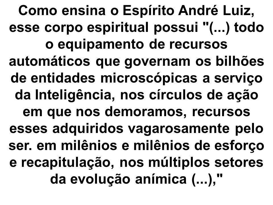 Como ensina o Espírito André Luiz, esse corpo espiritual possui (