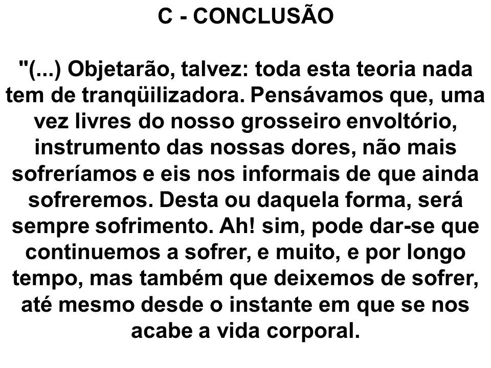 C - CONCLUSÃO
