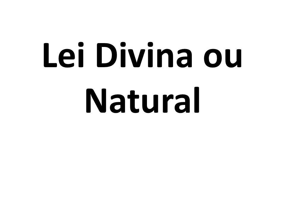 Lei Divina ou Natural