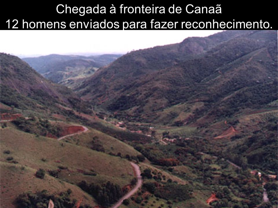 Chegada à fronteira de Canaã