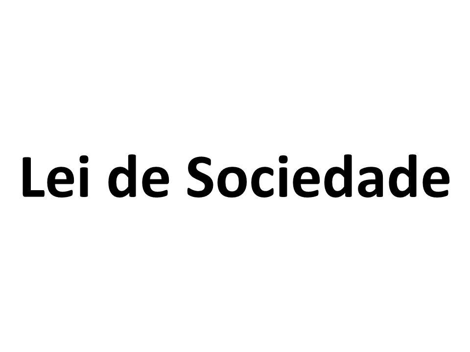 Lei de Sociedade