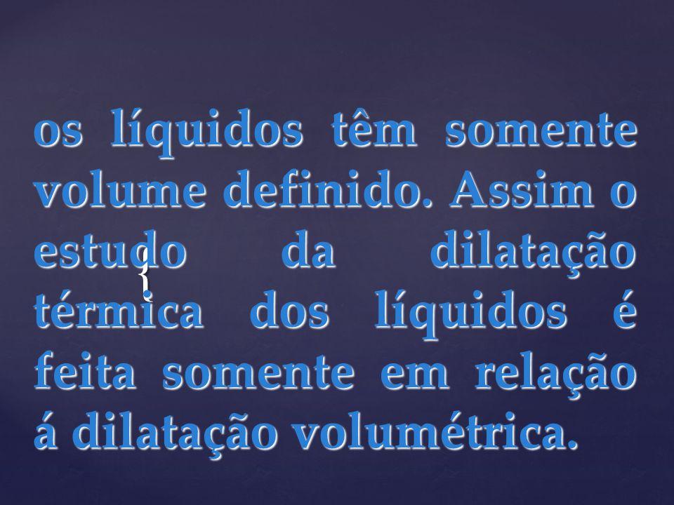 os líquidos têm somente volume definido