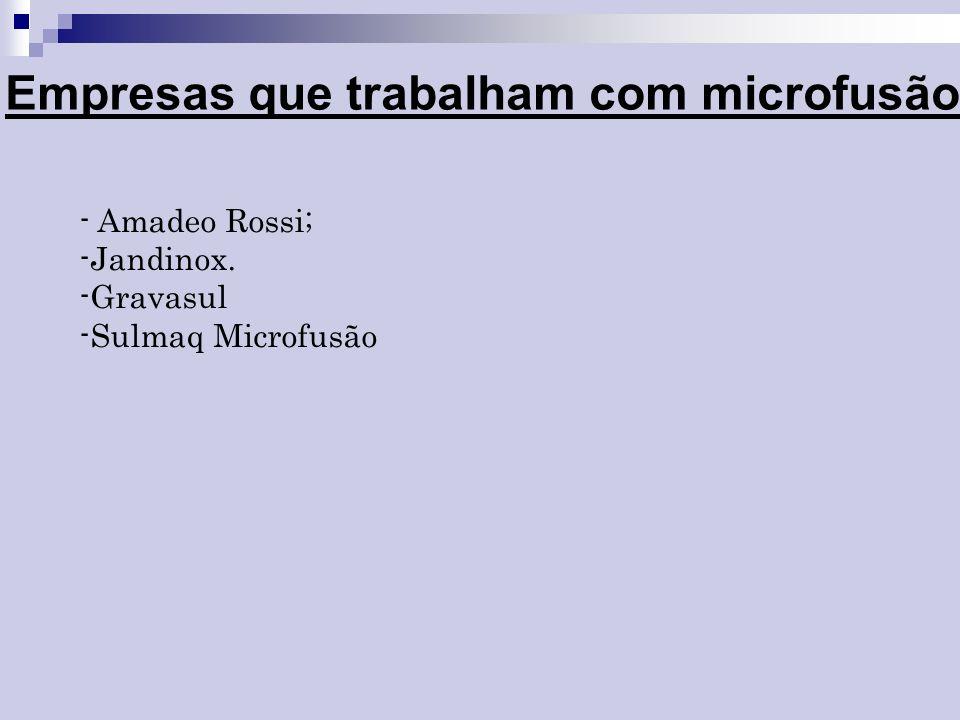 Empresas que trabalham com microfusão