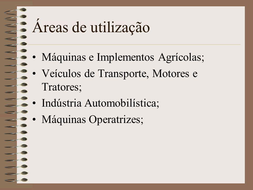 Áreas de utilização Máquinas e Implementos Agrícolas;