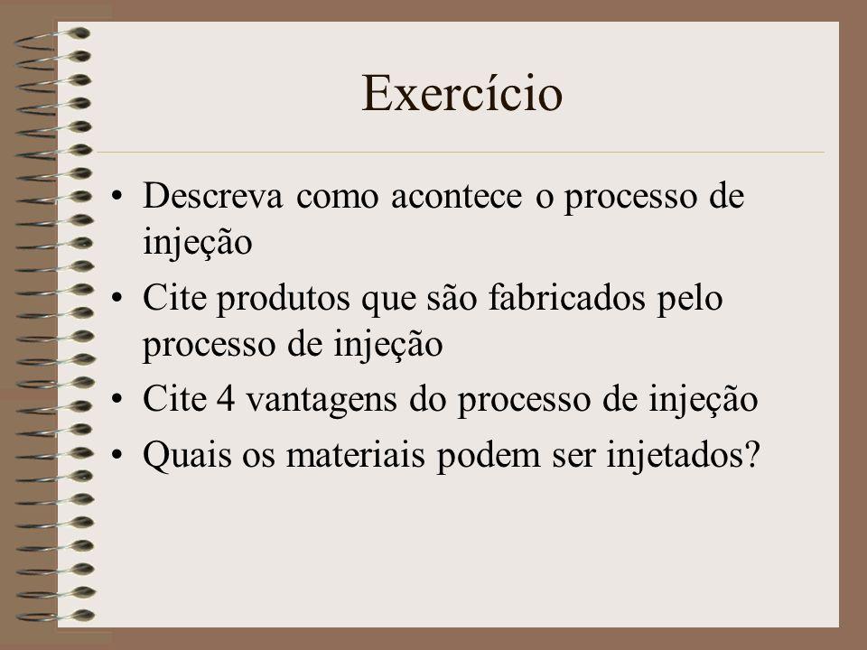 Exercício Descreva como acontece o processo de injeção